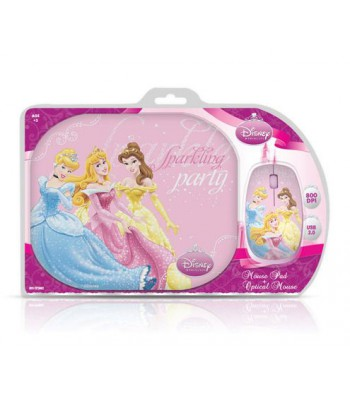 Мишка Disney Twin Pack Princess: Optical Mouse + Mouse Pad DSY-TP2002